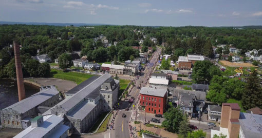 Dolgeville Violet Festival Parade Aerial view in 2017