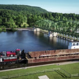 Lock 13 and a barge in Fultonville New York